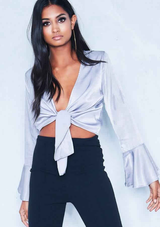 2080e9d2d24179 Missy Empire Grey Tops For Women - ShopStyle UK