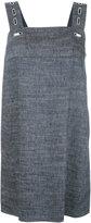 Dondup square neck dress - women - Linen/Flax/Silk/Cupro/Spandex/Elastane - 38