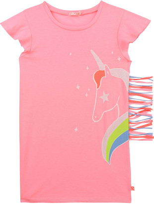 Billieblush Girl's Fringed Unicorn Graphic Shirtdress, Size 2-10