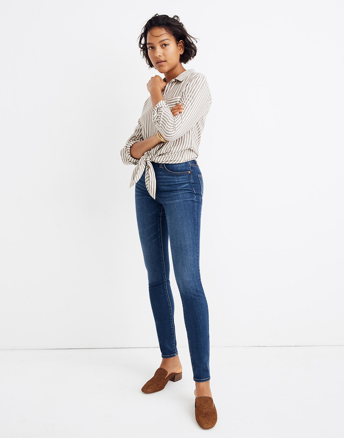 Madewell Petite Curvy High-Rise Skinny Jeans in Hayes Wash