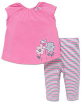 Offspring Baby Girls Floral Accented Top and Leggings Set