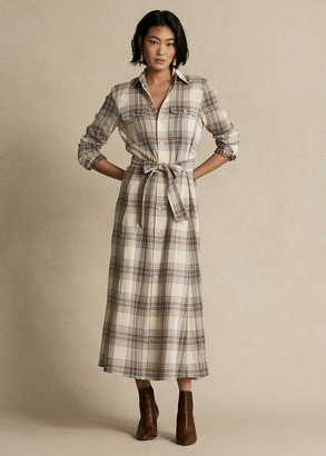 Ralph Lauren Plaid Belted Shirtdress