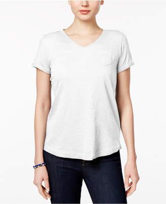 Style&Co. Style & Co Petite V-Neck Pocket T-Shirt