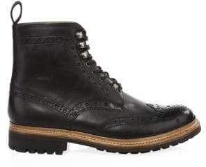 Grenson Men's Fred Commando Wingtip Boots - Black - Size 9.5 UK (10.5 US)