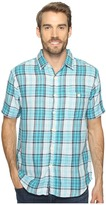 True Grit Surf Check Short Sleeve Shirt Combed Cotton Double Light Men's Clothing