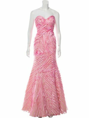 Jovani Embellished Strapless Gown Pink