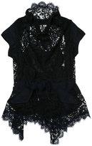 Sacai asymmetric lace blouse - women - Cotton - 2