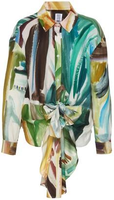 Rosie Assoulin Tie Front Button-down Shirt