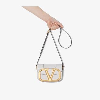 Valentino white Garavani Supervee VLOGO leather shoulder bag
