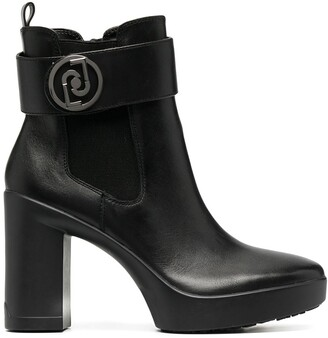 Liu Jo Ankle-Length Logo Plaque Boots