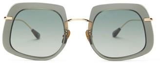 KALEOS Barton Square Acetate Sunglasses - Green