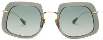 Kaleos - Barton Square Acetate Sunglasses - Womens - Green