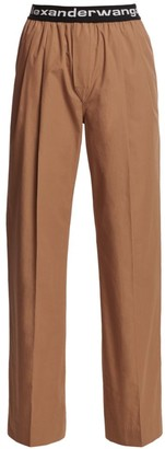 Alexander Wang Pleated Cotton Trousers