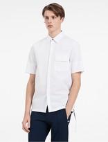 Calvin Klein Platinum Refined Poplin Short Sleeve Shirt