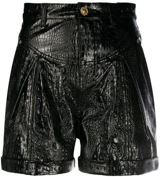 Chiara Ferragni Leather Look Shorts