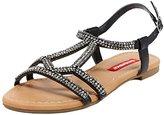 UNIONBAY Women's Diane Rhinestone Strappy Ankle Wrap Fashion Sandal