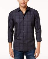 Alfani Men's Box-Plaid Shirt, Created for Macy's