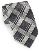 Burma Bibas Plaid Silk Tie & Gift Box
