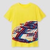 Cat & Jack Boys' Car Graphic Short Sleeve T-Shirt - Cat & Jack Yellow