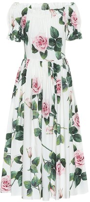 Dolce & Gabbana Floral cotton dress
