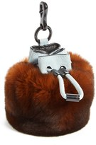 Alexander Wang Women's 'Mini Roxy' Genuine Rabbit Fur Bag Charm - Brown