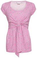 Jo-Jo JoJo Maman Bebe Floral Tie Front Feeding Top - Pink-S