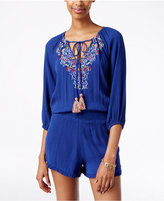 American Rag Embroidered Peasant Romper, Only at Macy's