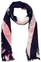 Vivienne Westwood Raw-Edge British Flag Scarf