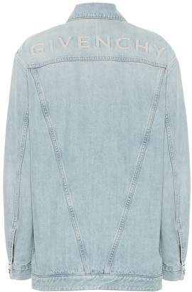 Givenchy Logo-embroidered denim jacket