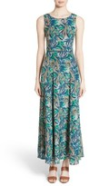 Lafayette 148 New York Women's Estrella Santa Clara Palm Print Maxi Dress