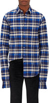 Vetements MEN'S PLAID FLANNEL SHIRT