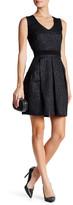 Dex Metallic Jacquard A-Line Dress