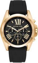 Michael Kors Men's Chronograph Bradshaw Black Silicone Strap Watch 47mm MK8578