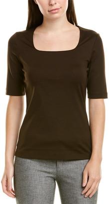 Lafayette 148 New York Square Neck T-Shirt