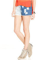 Material Girl Juniors Shorts, Destroyed Studded Cutoff