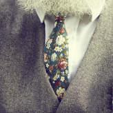 Walter Dancys Green Floral Tie