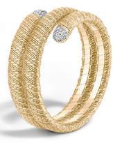 John Hardy Classic Chain 18k Double Coil Diamond Bracelet