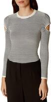 Karen Millen Slash-Sleeve Striped Sweater