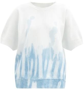Nili Lotan Ciara Tie-dye Fleeceback-cotton T-shirt - Light Blue