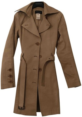 Patrizia Pepe Camel Cotton Trench Coat for Women