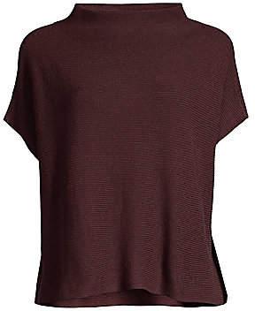 Eileen Fisher Women's Funnelneck Silk & Cashmere Sweater