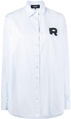 Rochas Oversized Embellished Logo Shirt