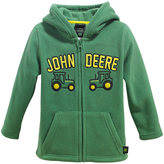 John Deere Green Tractor Fleece Zip-Up Hoodie - Toddler