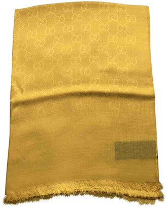 Gucci Yellow Wool Scarves