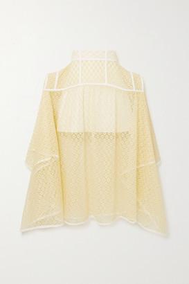 Loewe Lace Midi Skirt - Yellow
