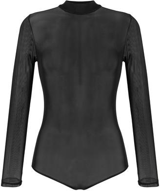 Alchemy Long-Sleeve Mesh Bodysuit