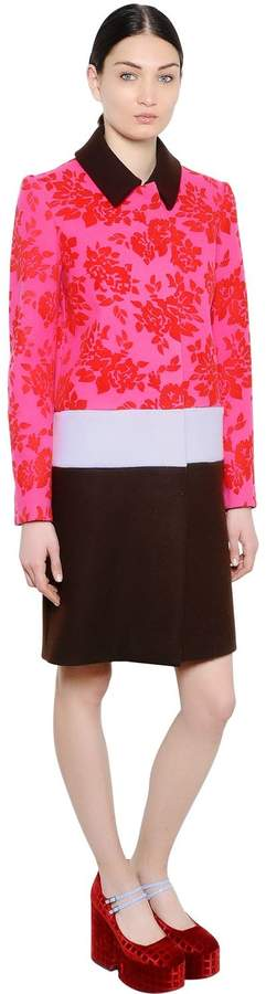 Mary Katrantzou Devore Jacquard & Wool Coat