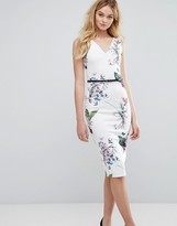 Ted Baker Kalab Tropical Dress With Bows