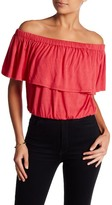 Loveappella Off-the-Shoulder Crop Top