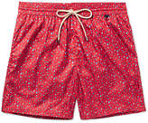 Rubinacci - Mid-length Printed Swim Shorts - Red